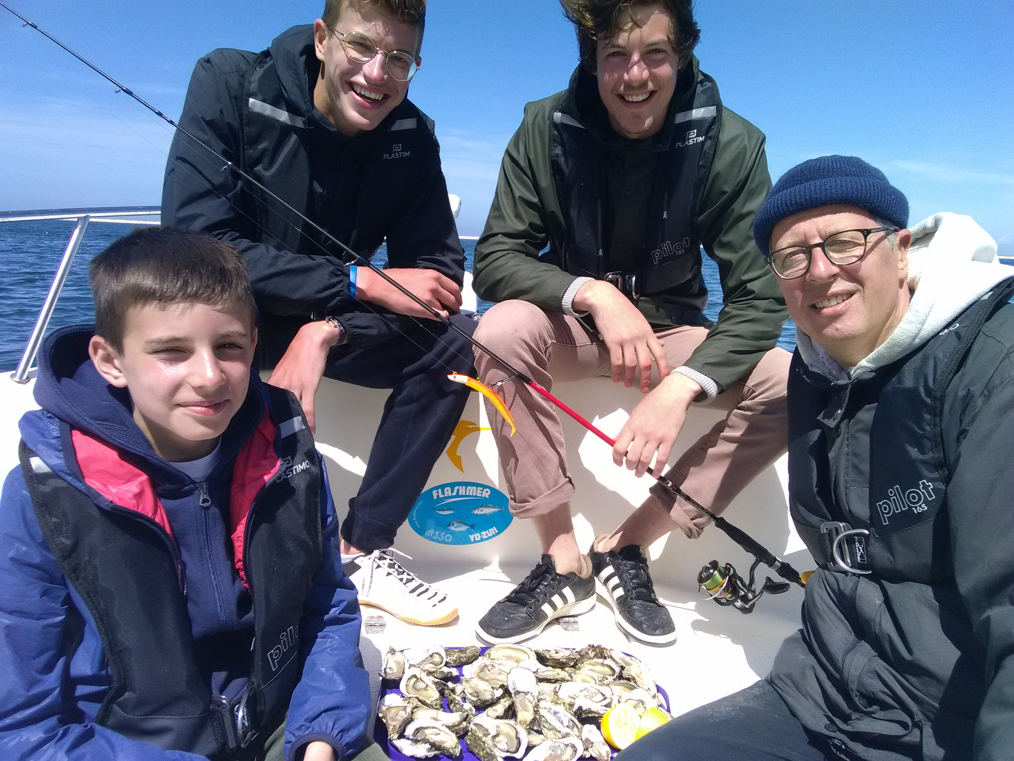 Initiation a la pêche en mer en Gironde à Arcachon