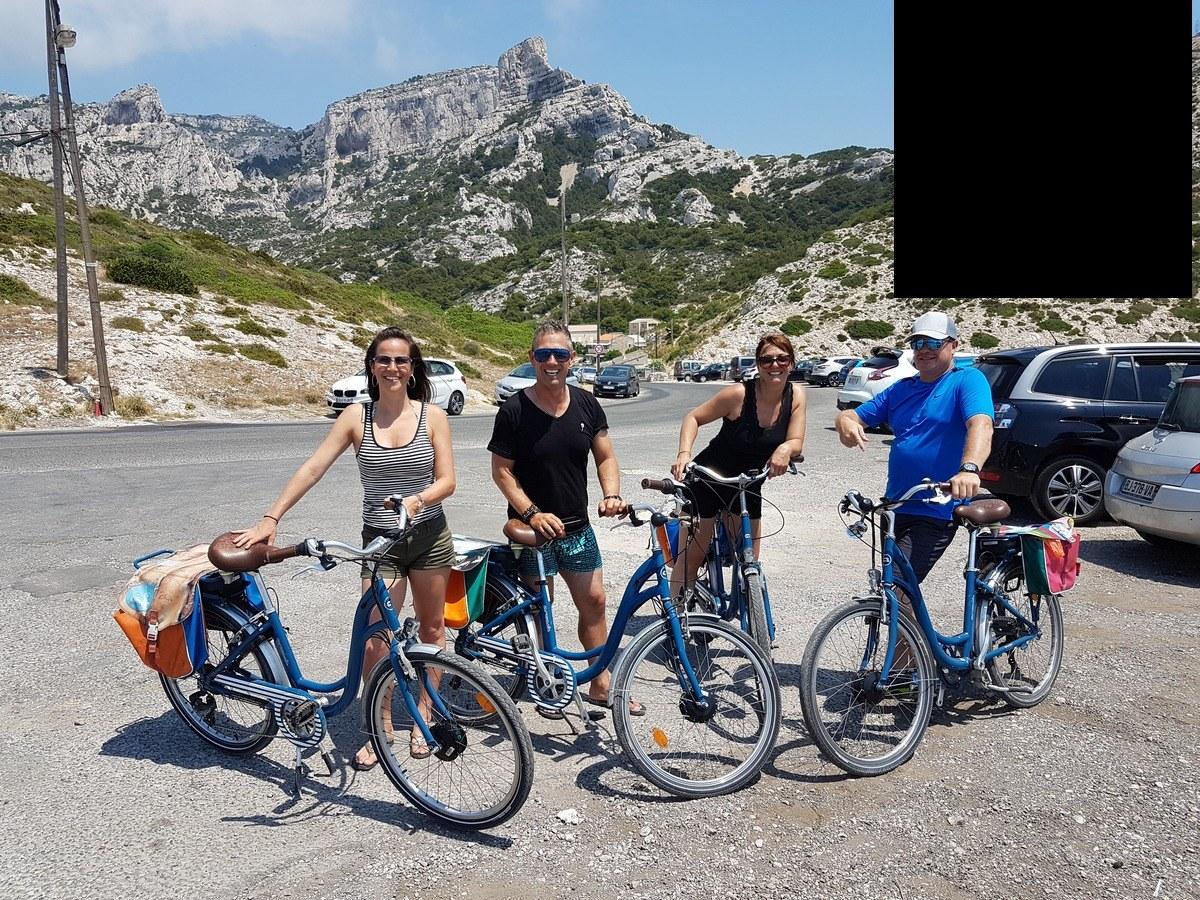 Marseille en vélo électrique : journée fun, baignade, calanques....