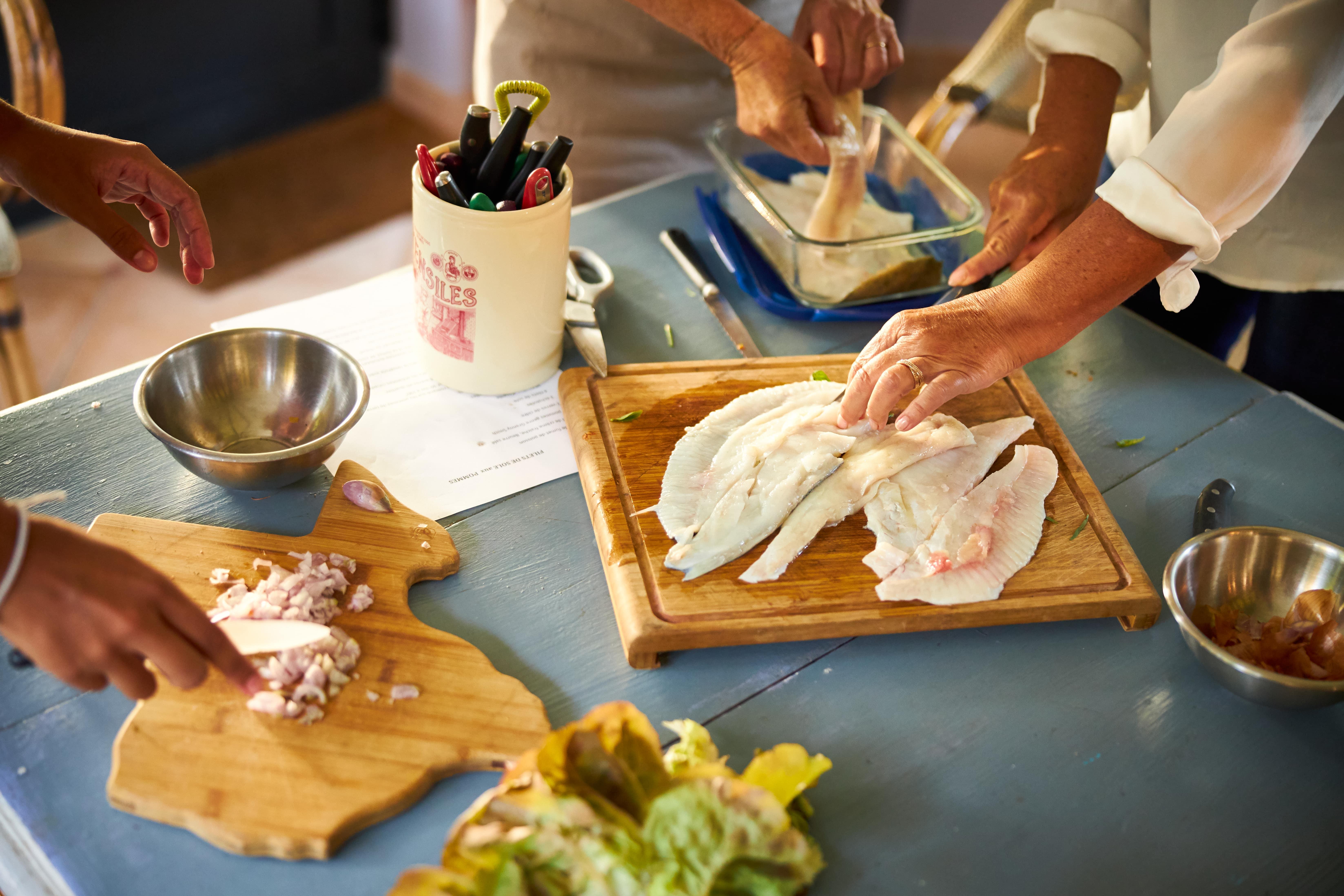 Cours de cuisine dans une longère normande
