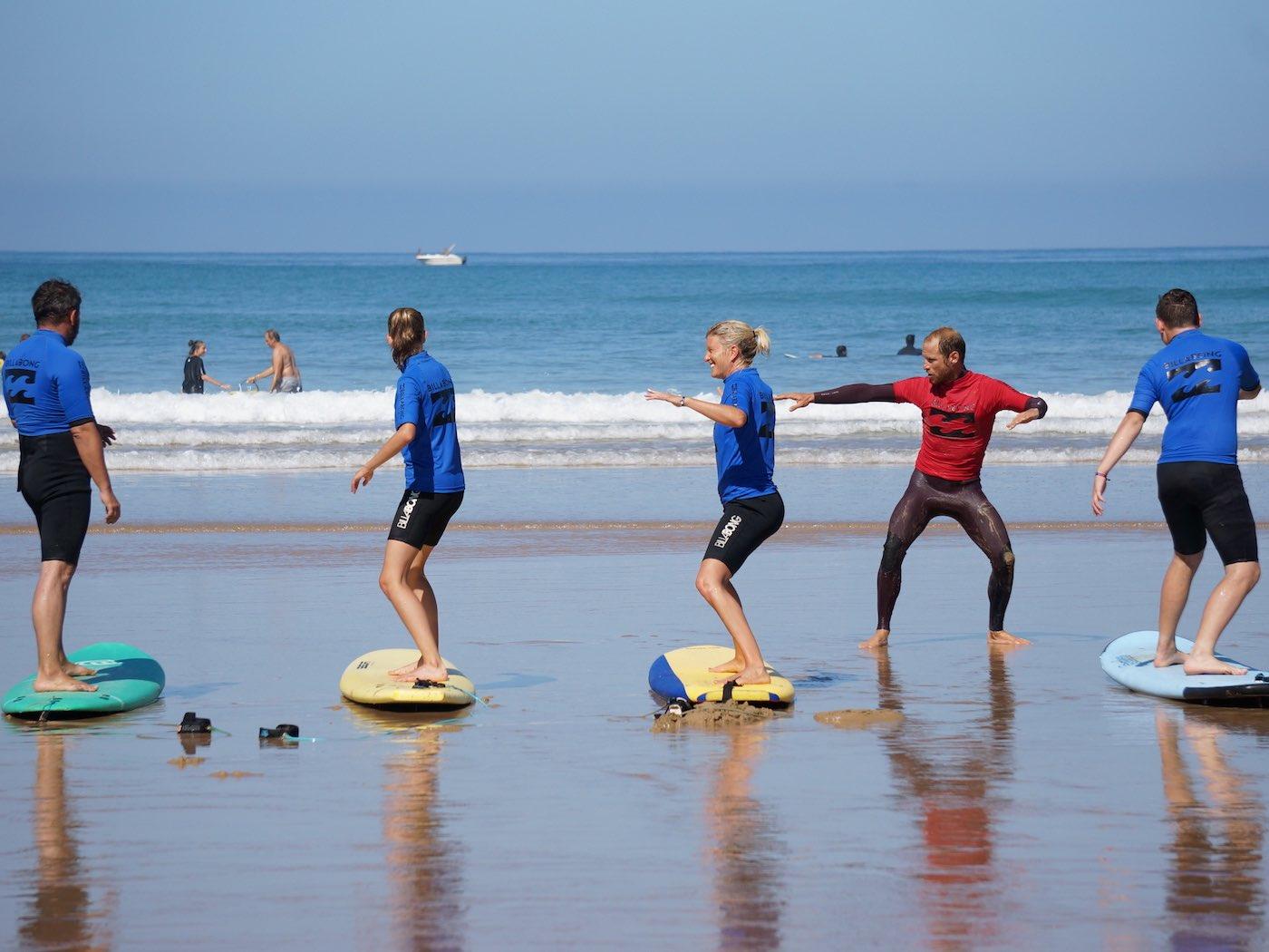 Cours d'initiation au Surf