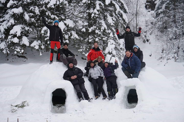 Stage d'initiation à la survie en montagne et conduite de chien de traineau