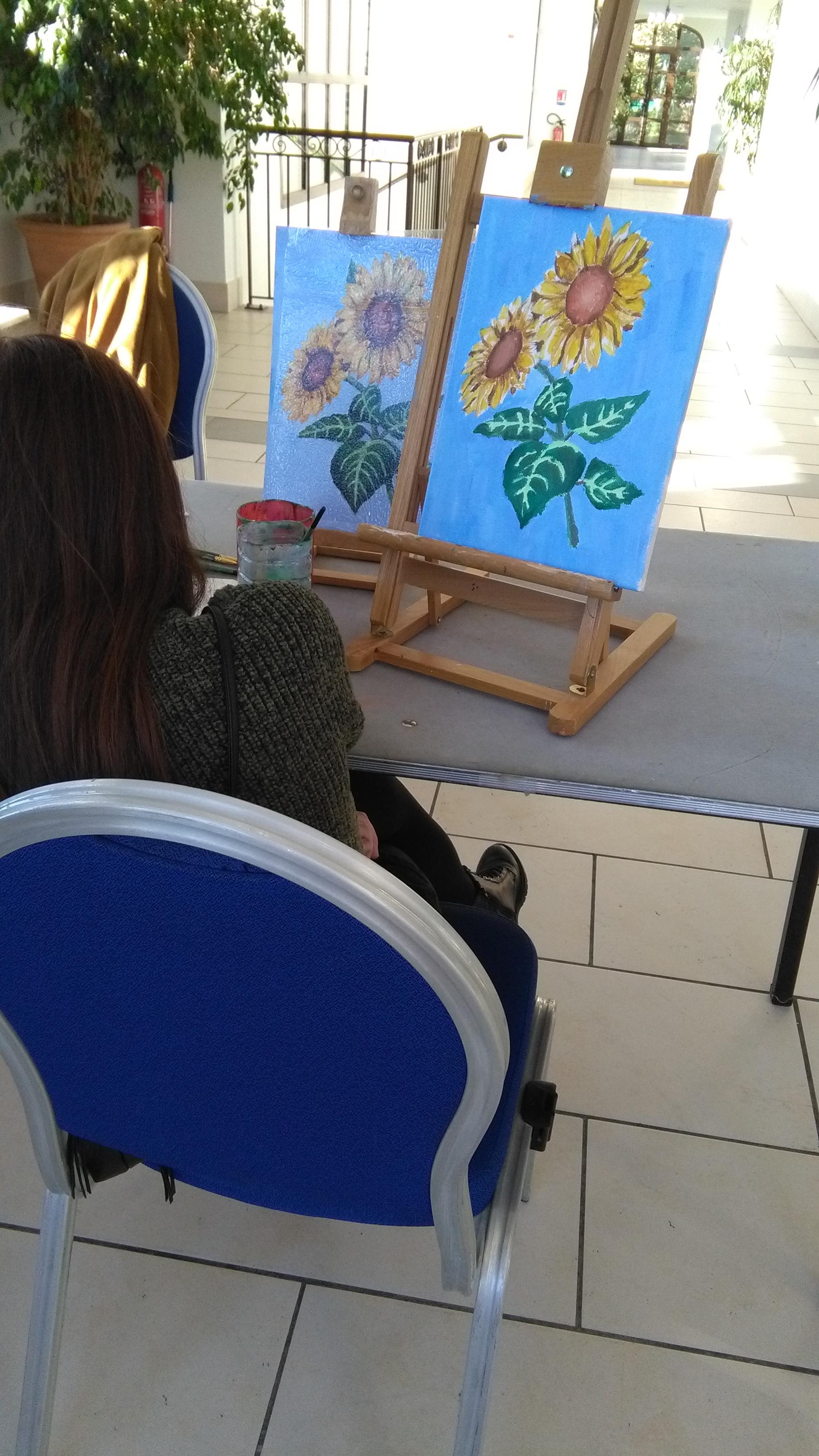 Atelier peinture à l'acrylique à Pont Royal
