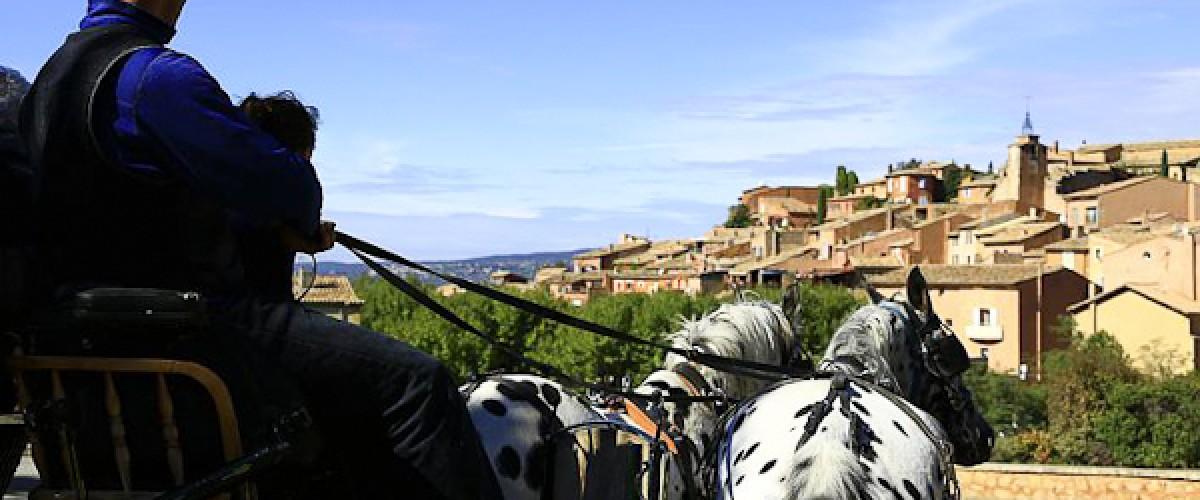 Une journée pour découvrir le Luberon et l'archipel des ocres en calèche