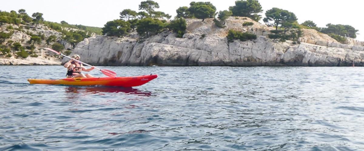 Randonnée kayak d'une journée dans les Calanques ou la côte Varoise