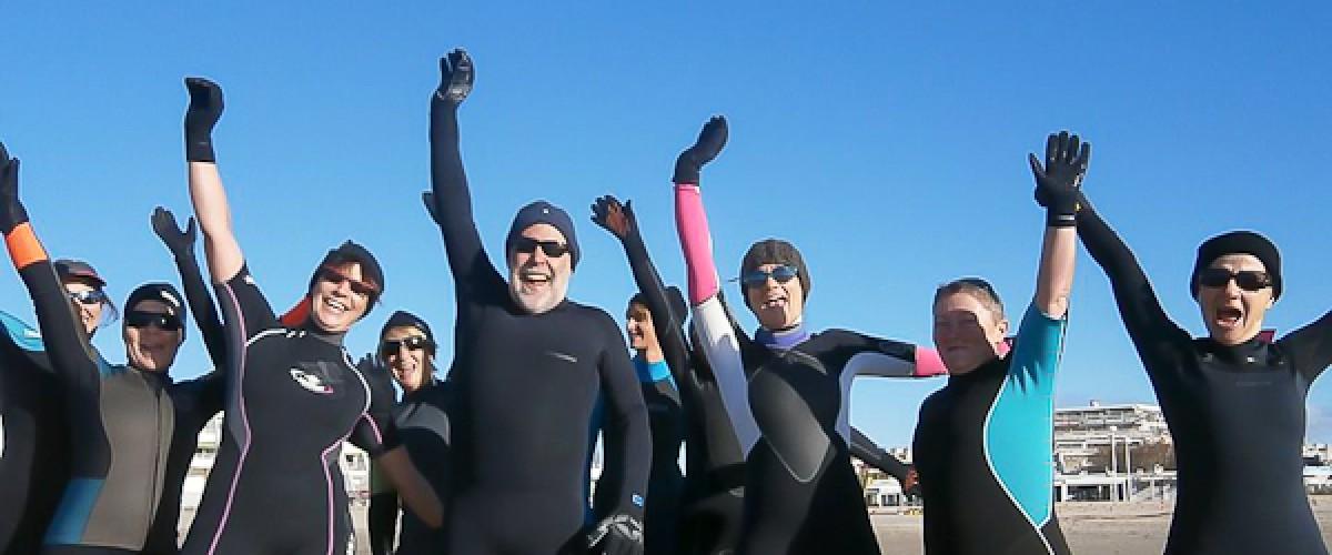 Aqua Fitness en Mer avec un coach à La Grande Motte