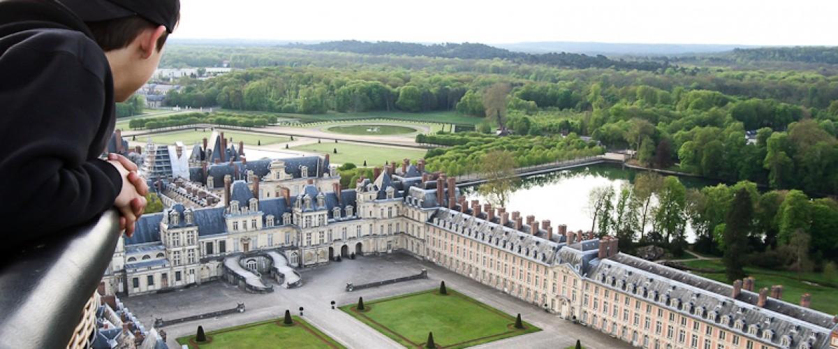 Vol en montgolfière au dessus du château de Fontainebleau