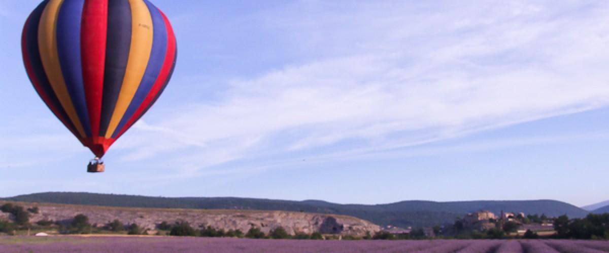 Vol en montgolfière entre les montagnes de Lure et du Luberon !