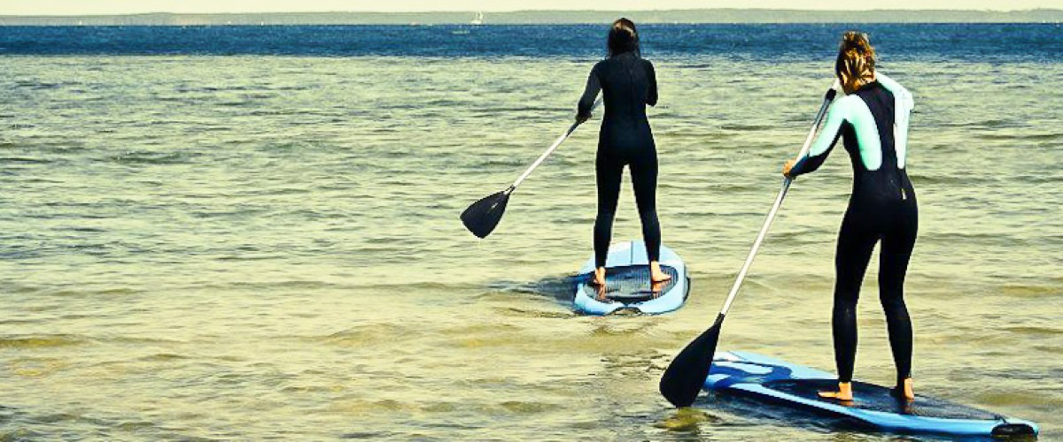 Balade en Stand-Up Paddle sur le lac de Biscarrosse