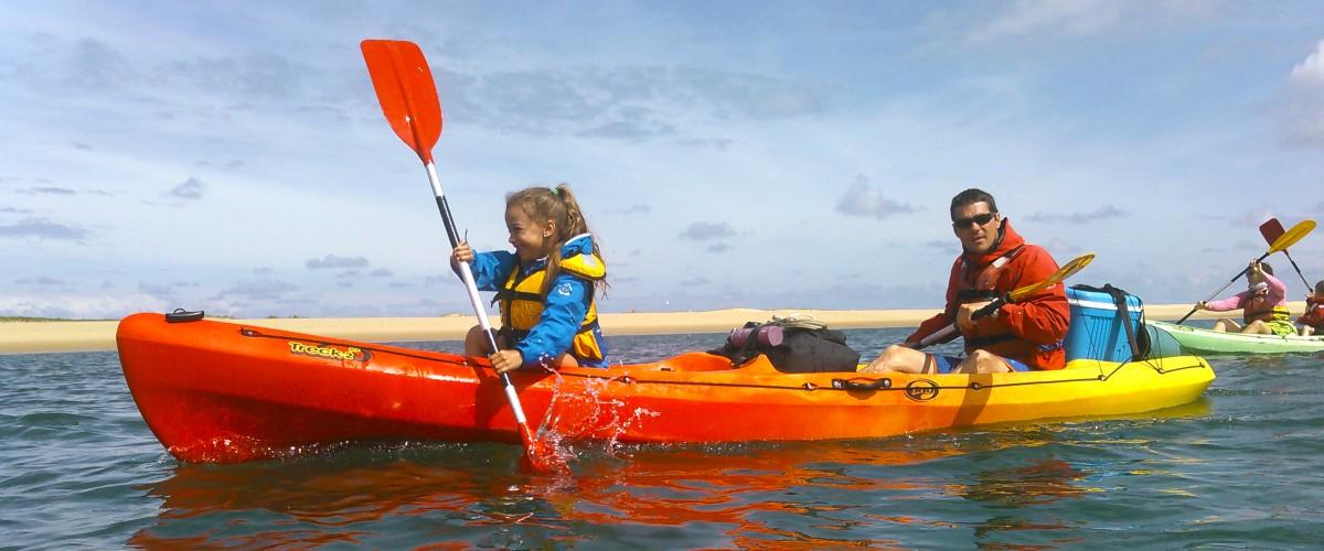 Randonnée guidée en canoë-kayak sur le Bassin d'Arcachon