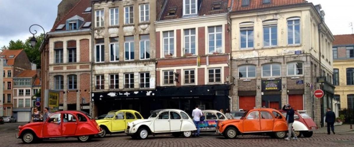 Jeux de piste insolite en 2CV à Lille !