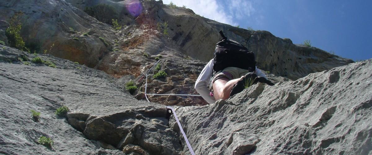 Escalade dans les gorges du Chassezac