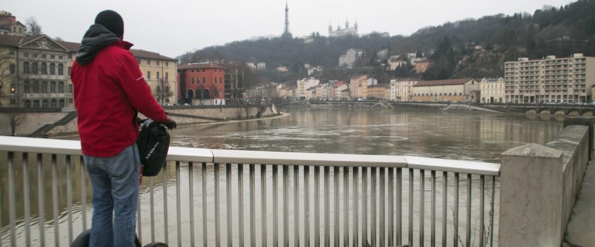 Visite guidée de Lyon au fil de l'eau à Segway