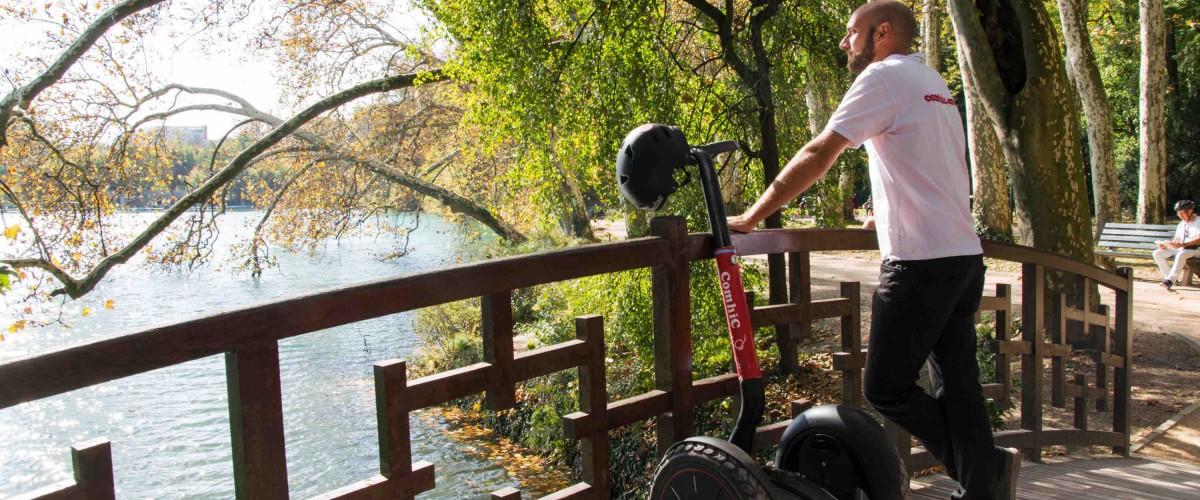 Visite guidée du parc de la Tête d'Or à Segway