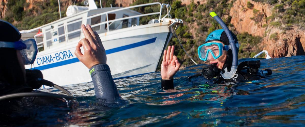 Baptême de plongée en mer Méditerranée