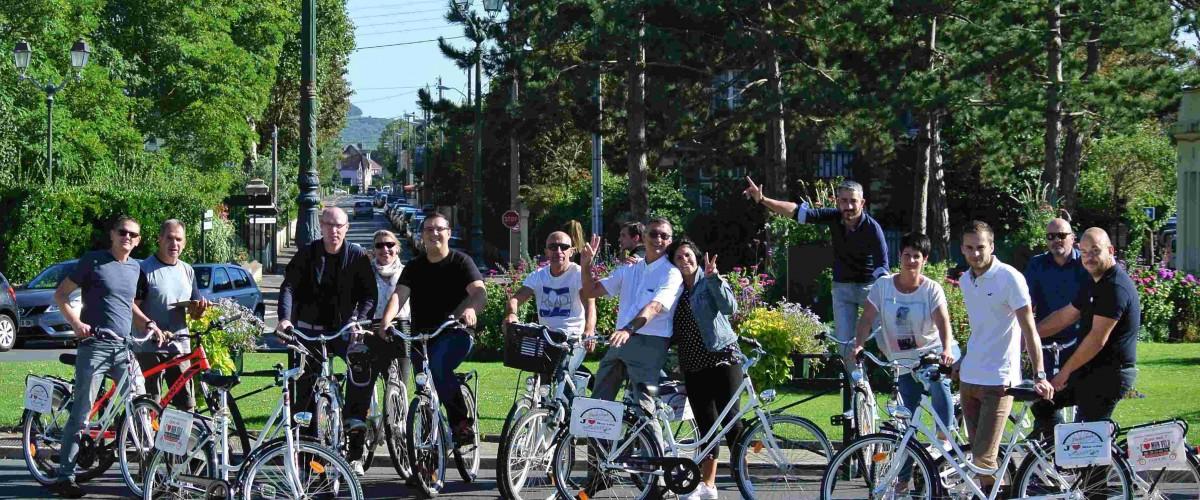 Promenade ludique à vélo à Cabourg
