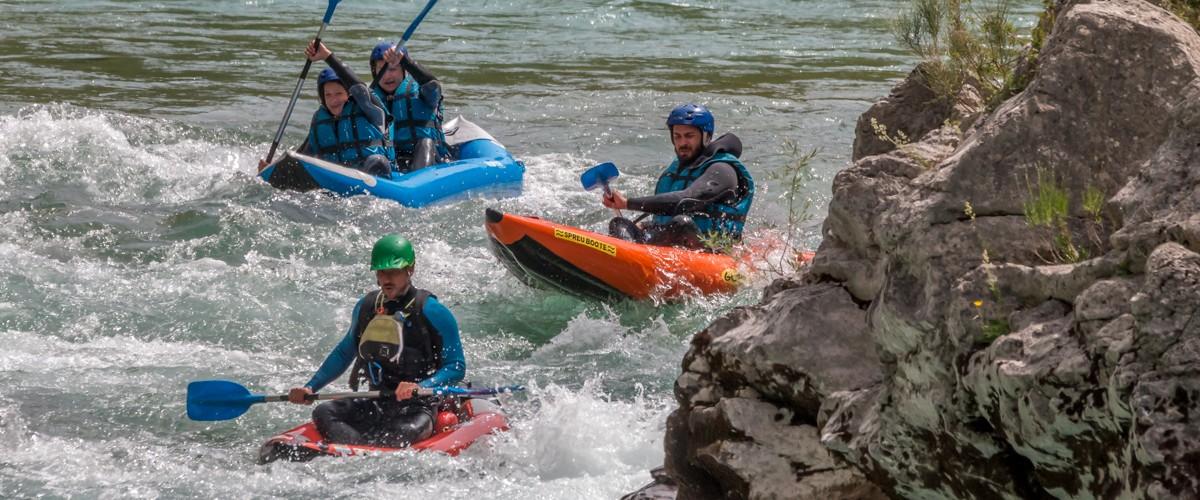 Découverte du Cano-Raft en rivière