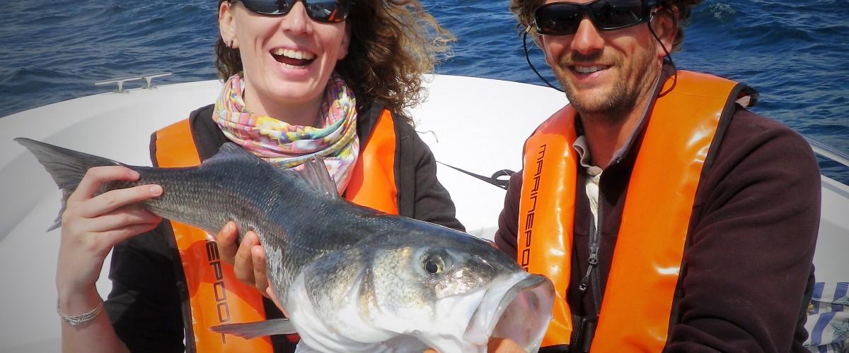 Séances de pêche en Mer, Concarneau, en Bretagne