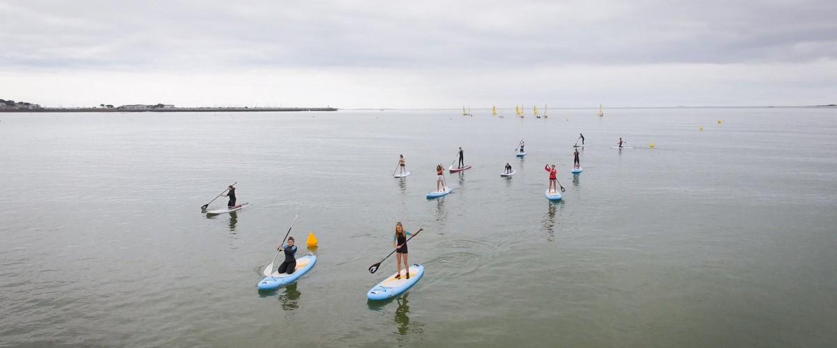 Initiation au paddle à Pornichet, en Bretagne