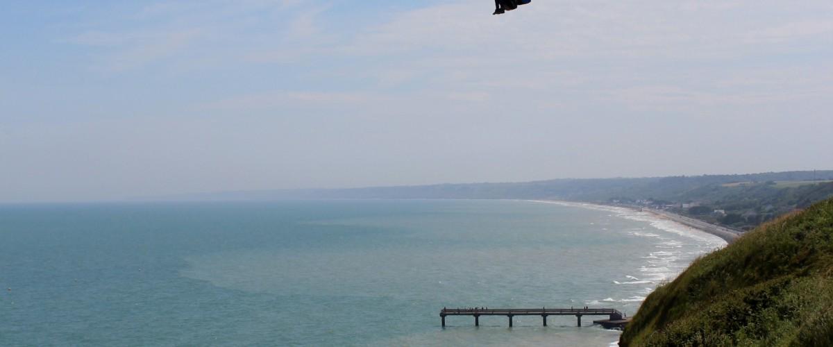 Baptême de parapente sur les plages du débarquement
