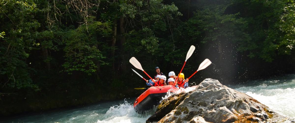 Rafting sensation sur l'Isère