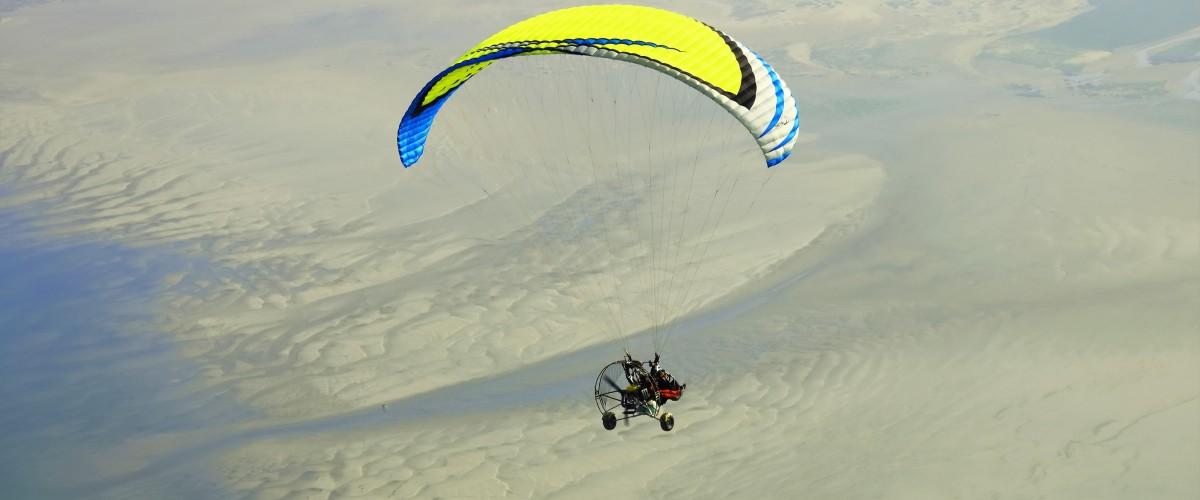 Vol en paramoteur au-dessus de la baie de Somme