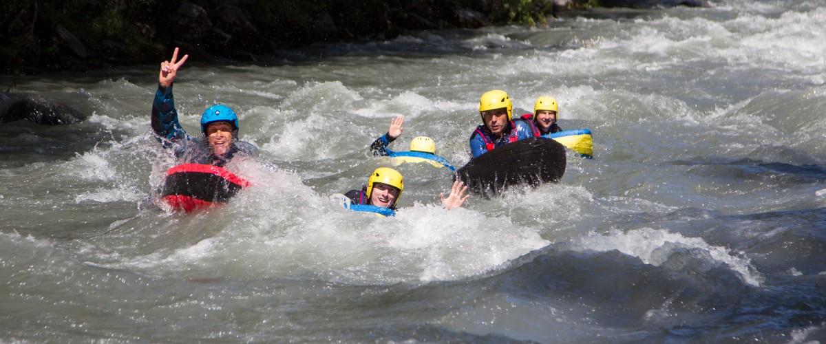 Nage en eau vive sur l'Isère