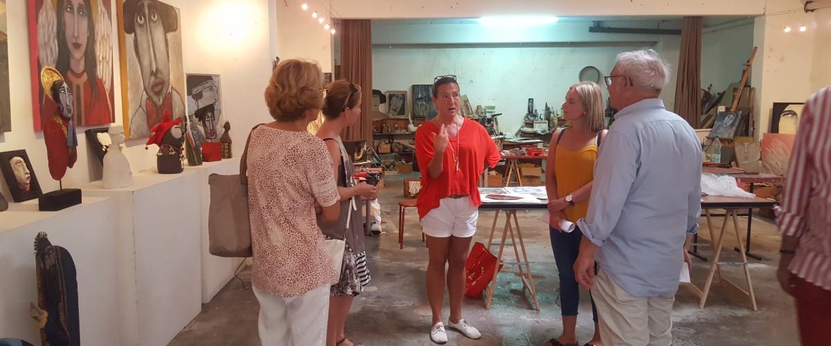 Visite d'ateliers d'artistes à Sète