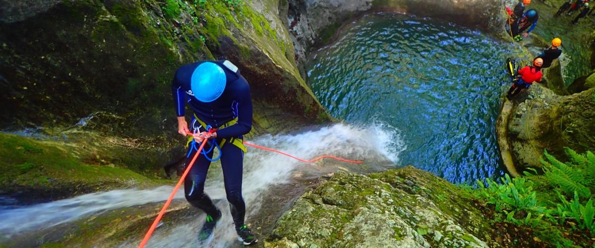 Descente du Canyon d'Angon