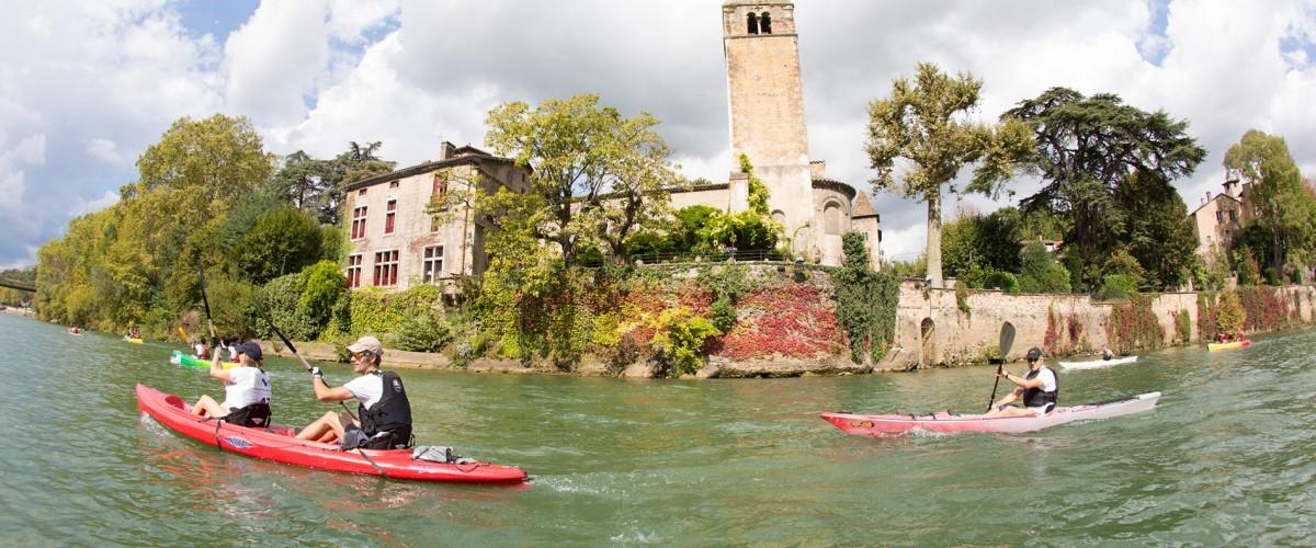 Parcours Sportif Kayak sur le Rhône