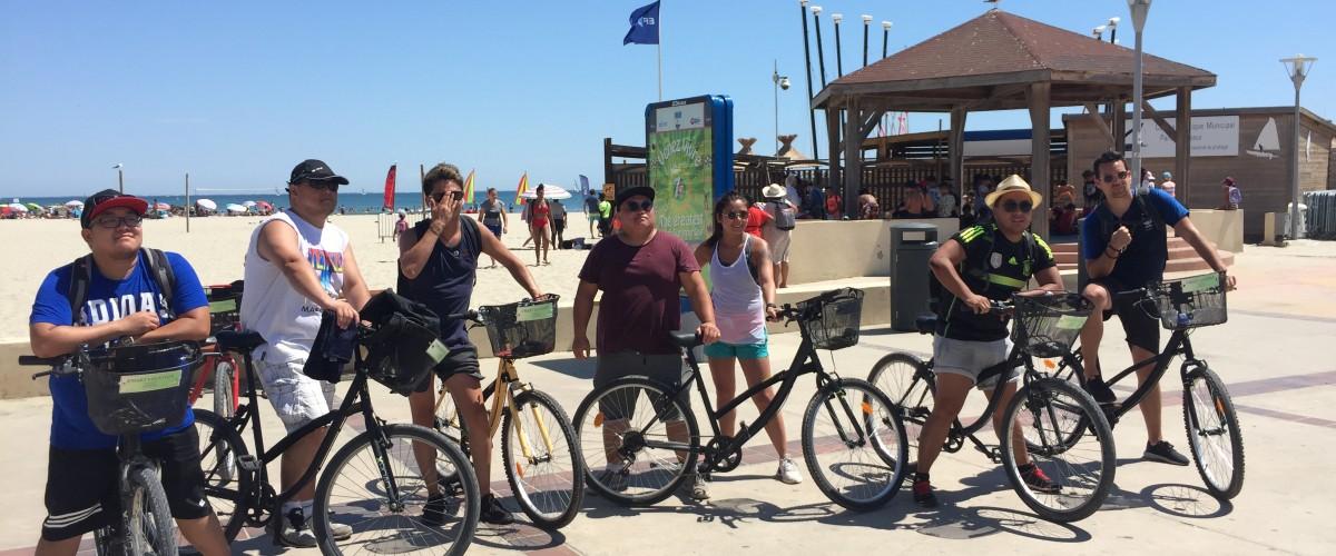 Balade à vélo vers les plages camarguaises