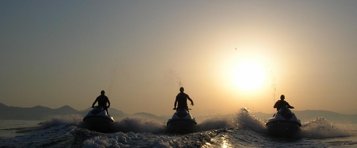 Randonnée Jet ski et coucher de soleil sur les îles de Lérins