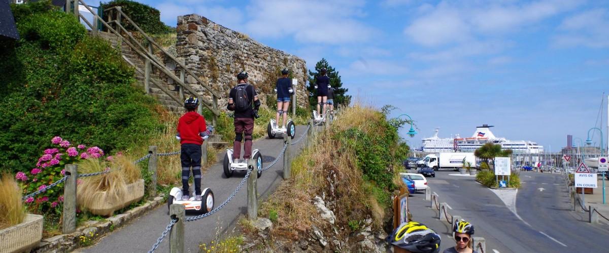 Visite de la cité d'Aleth à Saint Malo en gyropode segway !