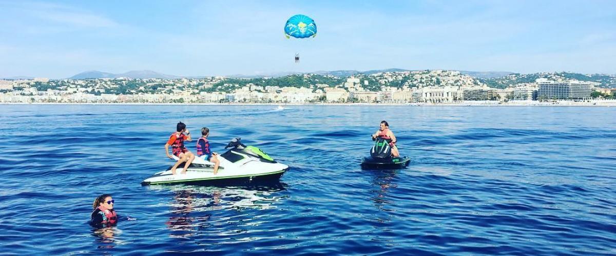 Randonnée Jet ski direction Monaco ou Cannes + 1h de paddle