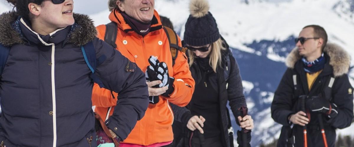 Une journée randonnée en raquette à neige sur La Plagne