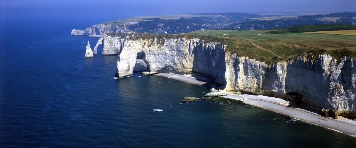 """Vol panoramique en hélicoptère """"les Falaises d'Etretat"""""""