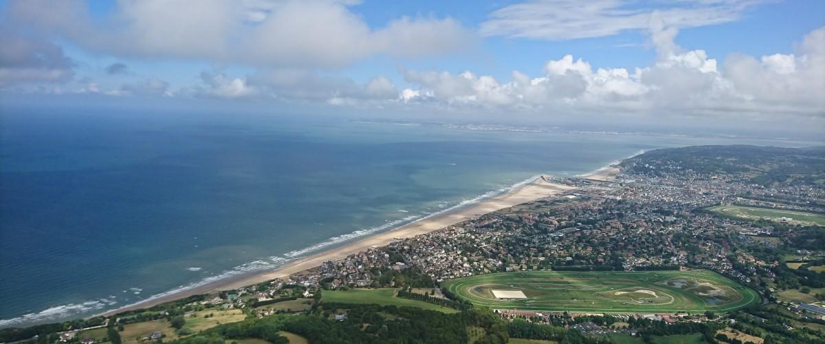"""Vol panoramique en hélicoptère """"la Côte Fleurie"""""""