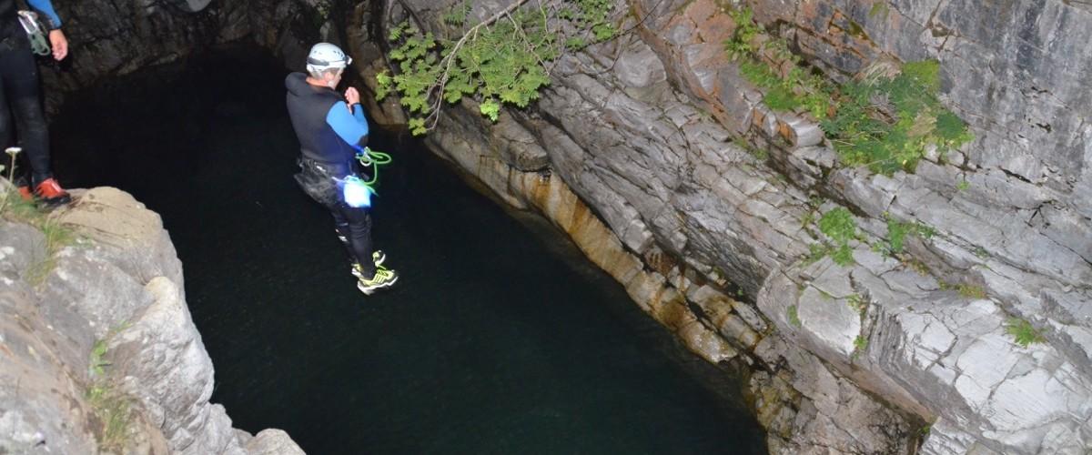 Sortie nocturne dans le canyon de Barrossa près de Saint Lary