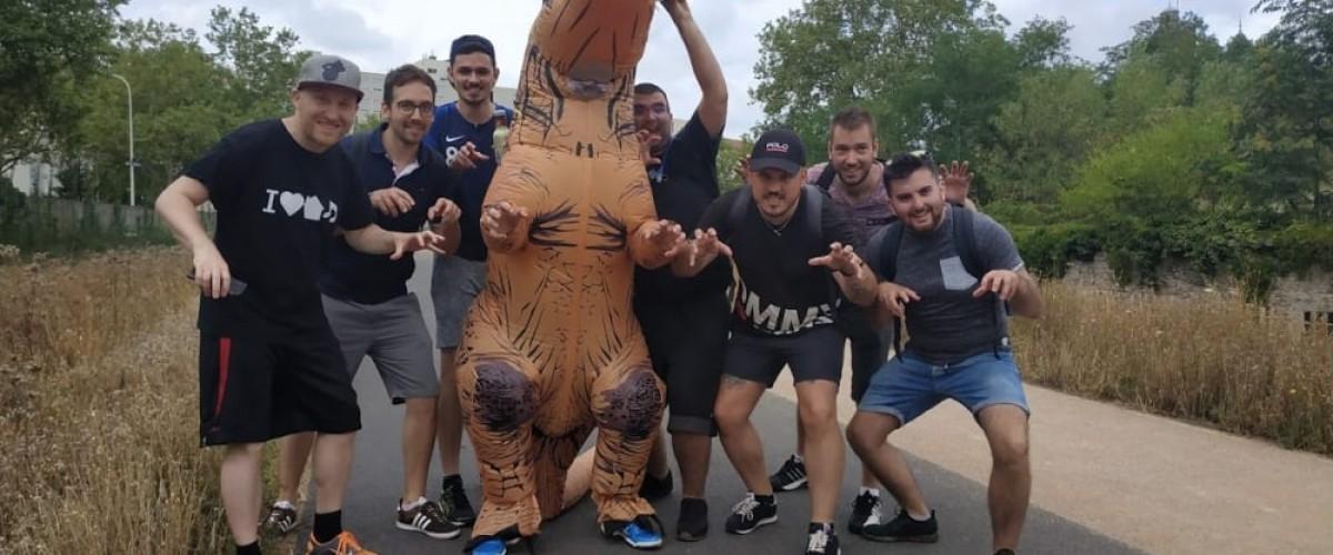 Team building sportif dans les rues de Lyon
