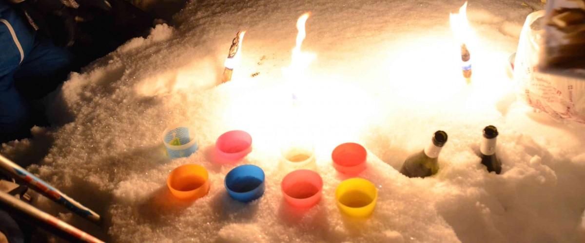 Balade nocturne en raquettes sur les Arcs
