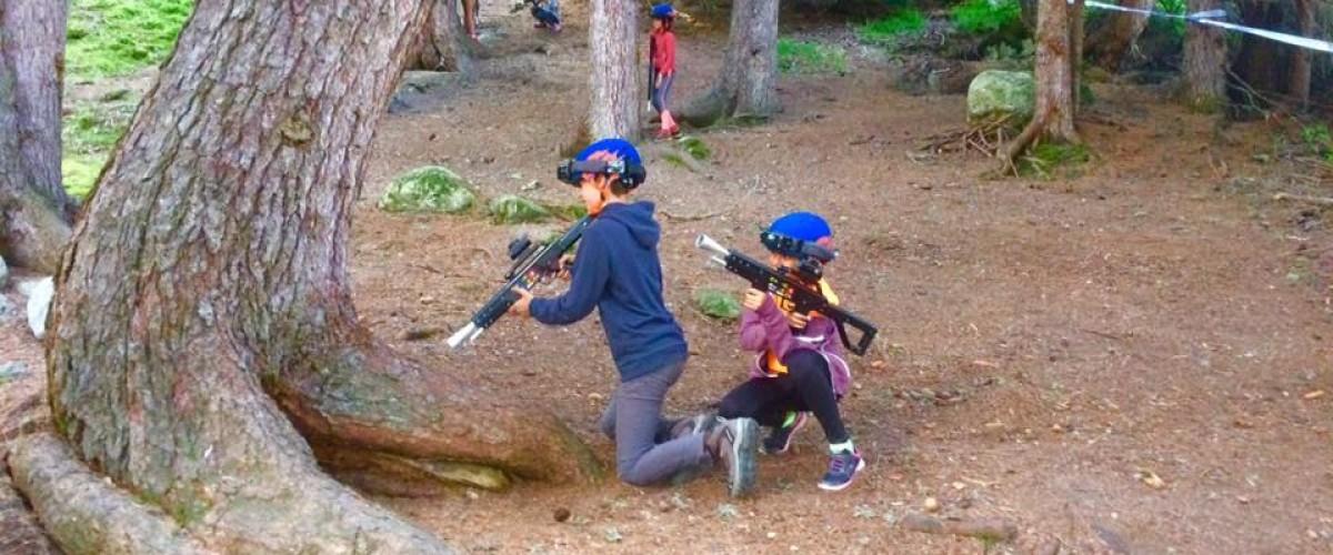 Parcours commando pour enfants à Méribel