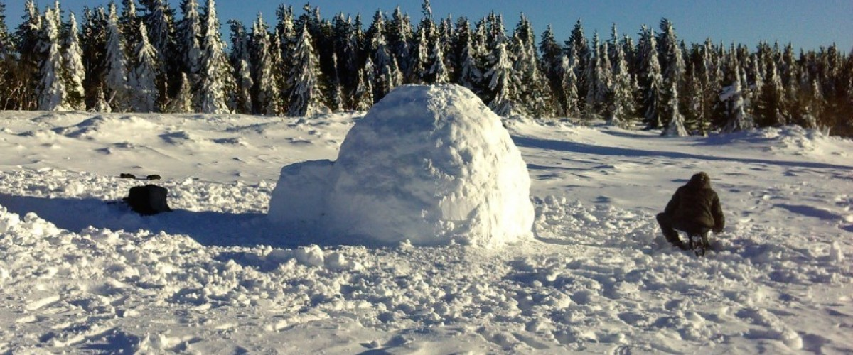 Stage de survie hivernal dans les Vosges