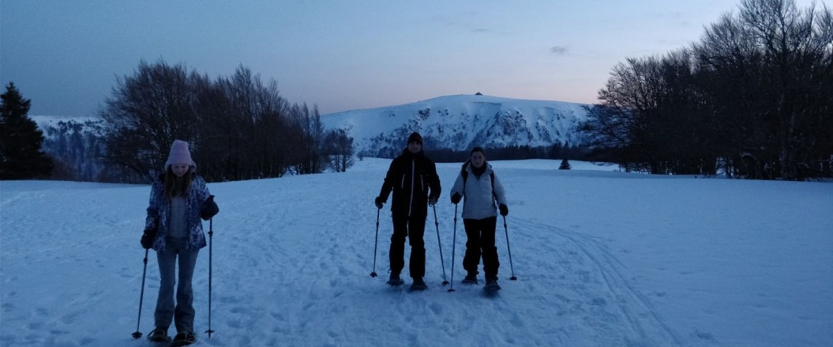 Randonnée raquettes à neige nocturne Honeck