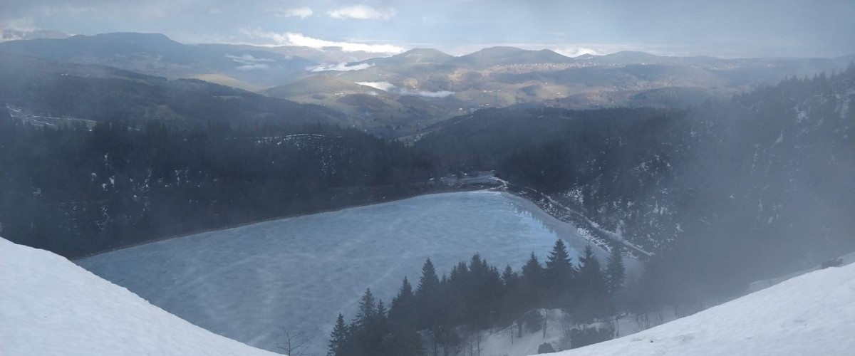 Balade en raquettes à neige au Lac Blanc