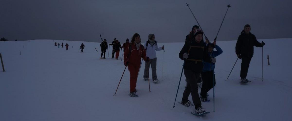 Balade nocturne en raquettes au Lac Blanc