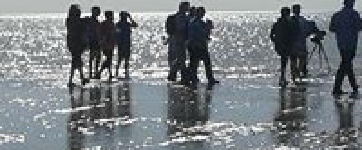 Impressionnantes grandes marées de la Baie de Somme Le Crotoy