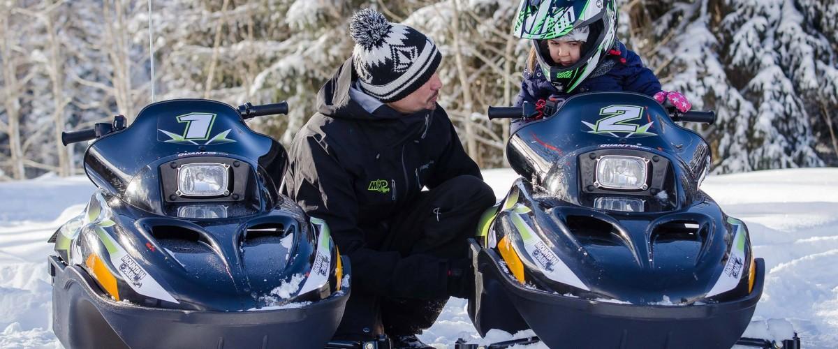 Cours Motoneige électrique pour enfant en Haute Savoie