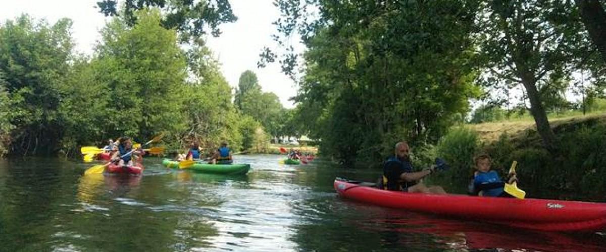 Excursion en kayak sur le fleuve de la Touques à Trouville-sur-Mer