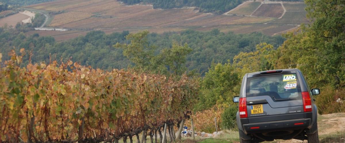 Excursion dans le vignoble de la côte de Beaune en 4x4