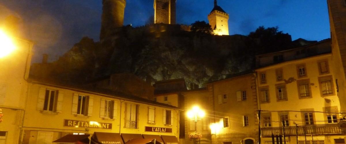 Visite nocturne de la ville de Foix