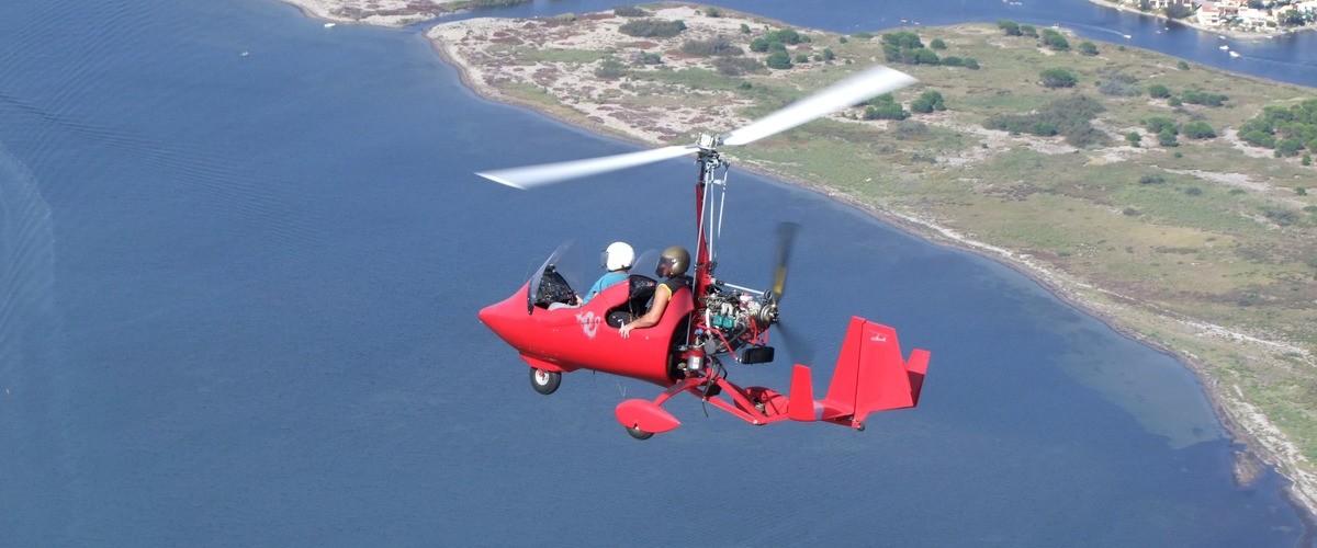 Vol d'initiation au pilotage en autogire